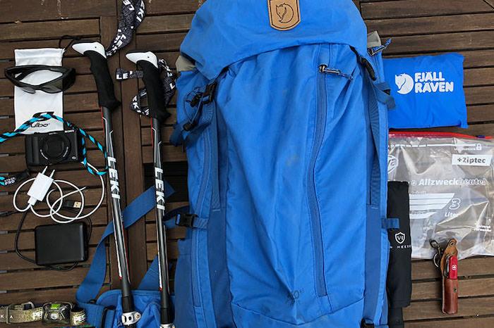 Wanderausrüstung Alpenüberquerung
