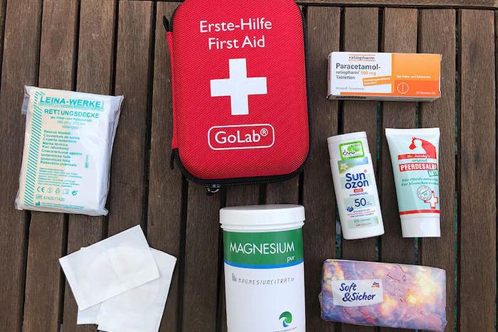 Erste-Hilfe Set Alpenüberquerung