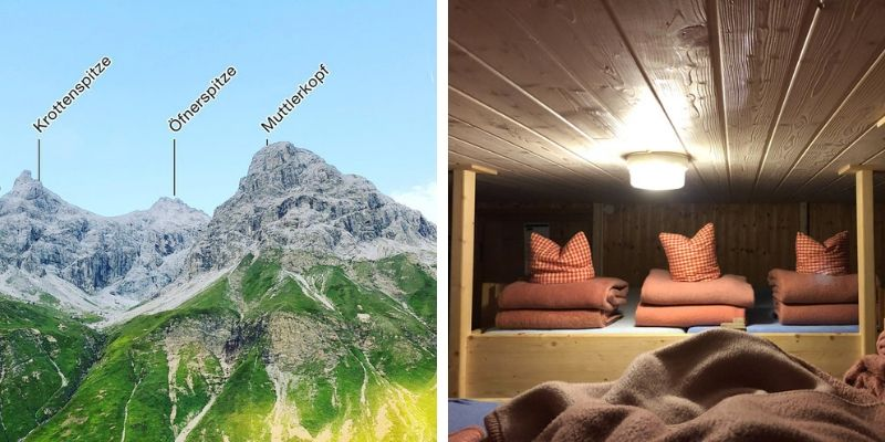 Kemptner Hütte: Ausblick auf den Muttlerkopf