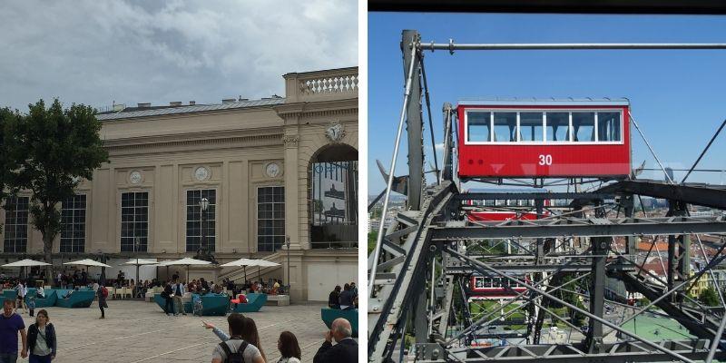 Museums Quartier und Prater-Riesenrad