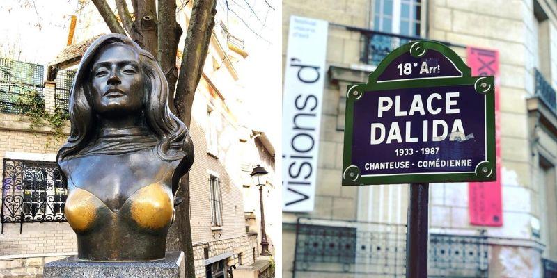 Place Dalida und Dalida Statue
