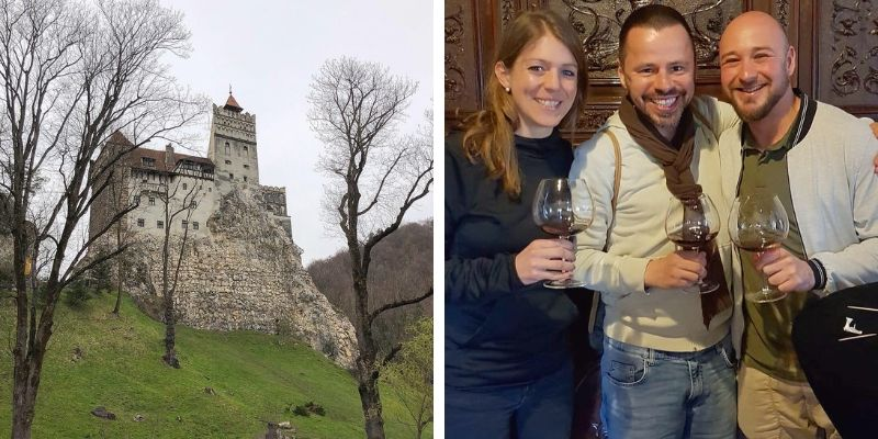 Weinprobe auf dem Schloss Bran / Dracula