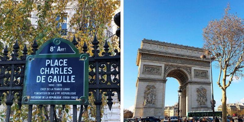 Triumphbogen und Place Charles de Gaulle