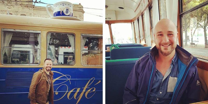 Kaffee im Bahn-Café Djurgardslinjen