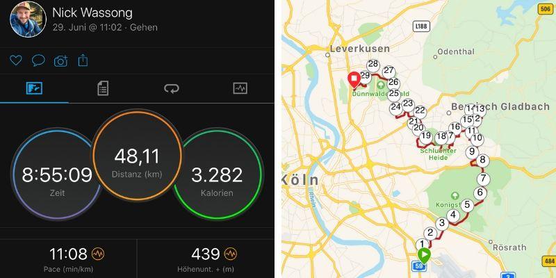 ultrawandern 50 km kölnpfad