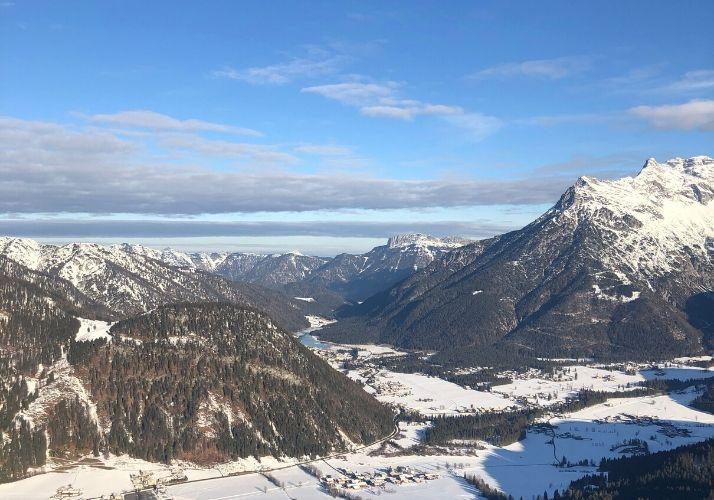 Ausblick auf den Pillersee von der Buchensteinwand