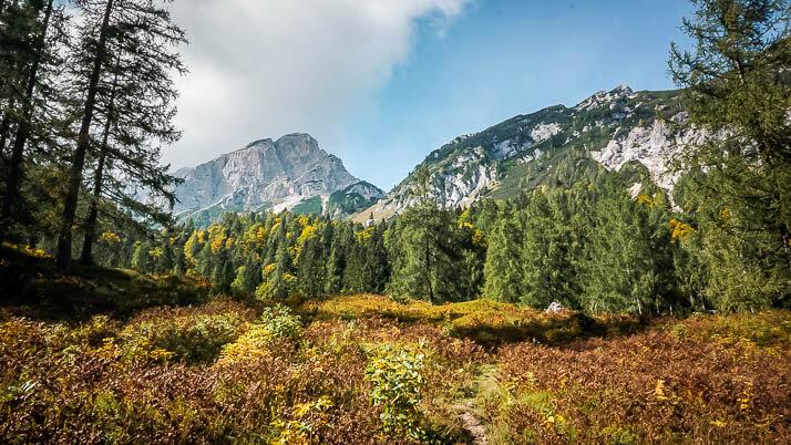 Auf dem Weg zum Vrsic Pass im Triglav Nationalpark