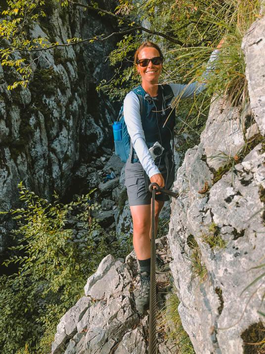 Couchflucht auf dem Klettersteig zur Soca Quelle