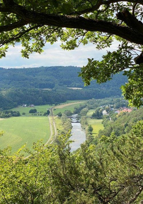 Ausblick Hagenstein - Eder