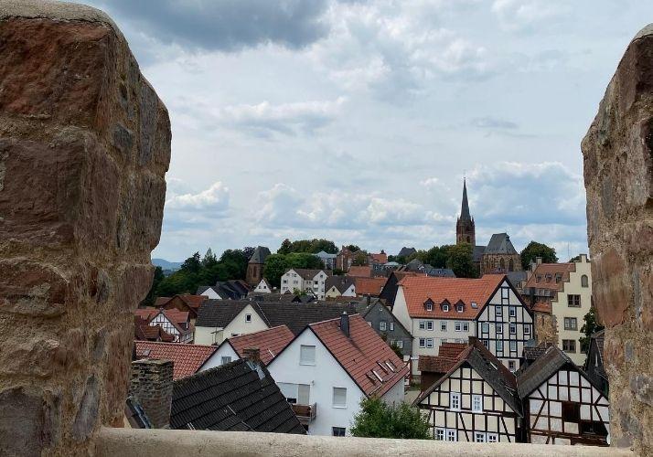 usblick auf Frankenberg vom Hexenturm