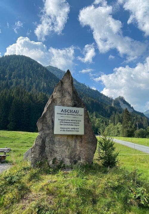 Aschau - Geografischer Mittelpunkt in den Kitzbüheler Alpen