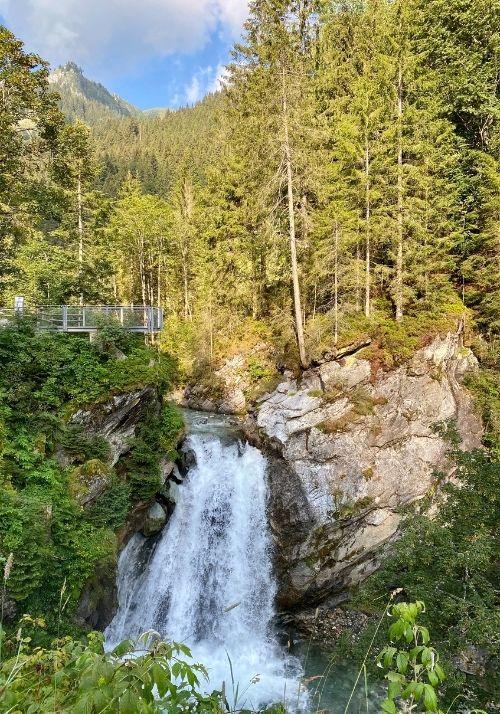 Wasserfall beim Abstieg nach Aschau