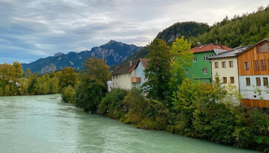 Ausblick von der Theresienbrücke in Füssen