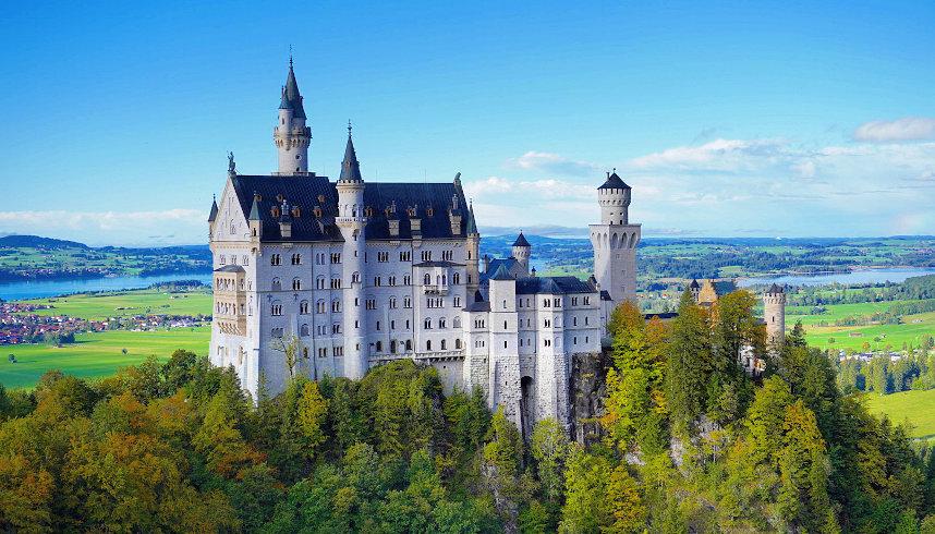 Schloss Neuschwanstein von der Marienbrücke